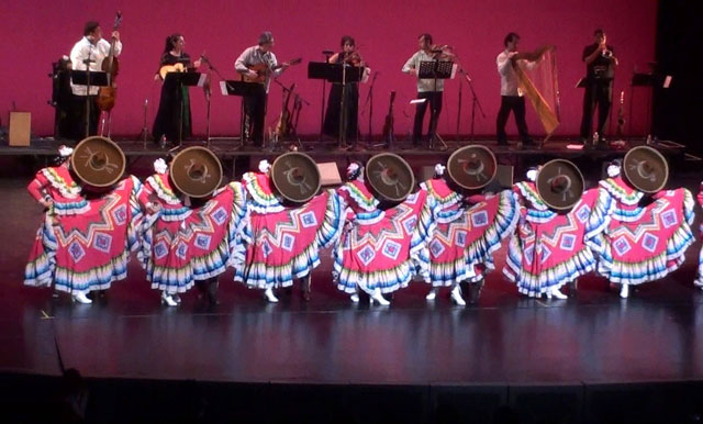 The Mexican Folkloric Dance Company of Chicago and Mariachi Perla de Mexico.